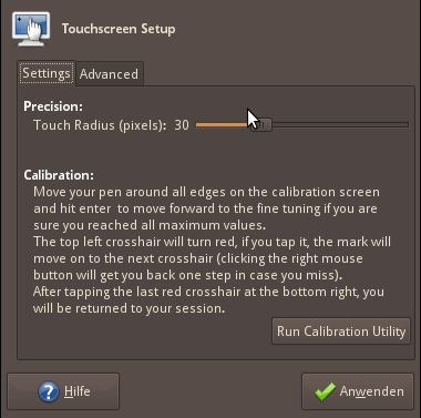 basic calibration settings